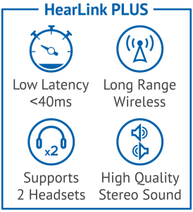 Get quality sound when you connect one or two hearing aids to HearLink Plus